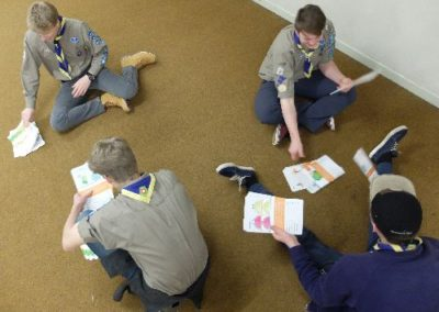 Scouts playing EcoAction food waste toppers