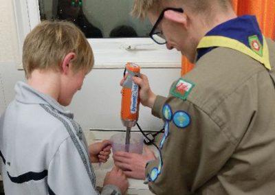Scouts make banana nice cream
