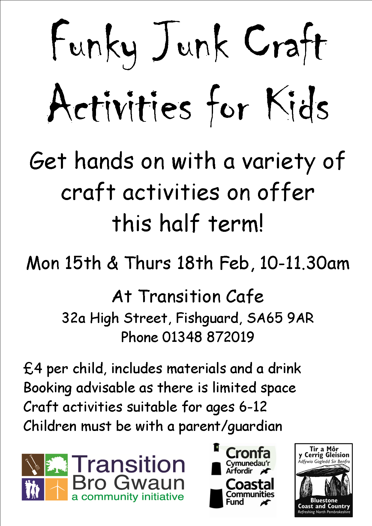 Funky Craft Holiday Activities Poster A4 Feb 16