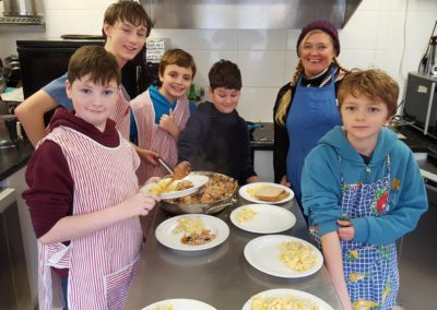 Cookery workshop with young people from POINT youth club