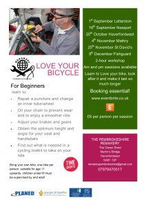Beginners bike repair workshops 9th December 2018