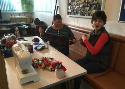 An upcycling session with volunteers
